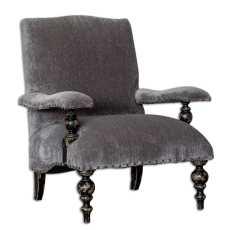 Uttermost Eavan Gray Chenille Armchair