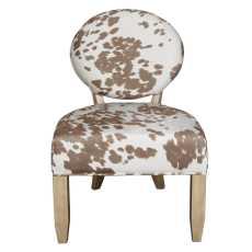 Uttermost Hevener Cowhide Armless Chair