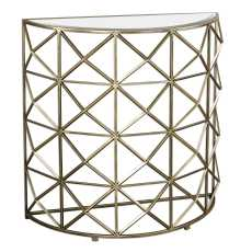 Uttermost Yulia Gold Console Table