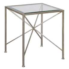 Uttermost Silvana Antiqued Silver Cube Table