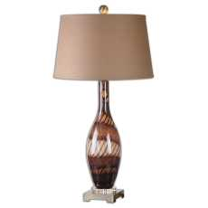 Uttermost Domitia Brown Glass Table Lamp