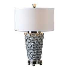 Uttermost Petalo Pearl Gray Table Lamp