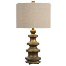 Uttermost Guadalete Antiqued Gold Lamp