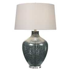 Uttermost Zumpano Crackled Gray Table Lamp