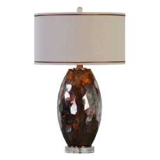 Uttermost Sabastian Bronze Glass Table Lamp