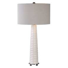 Uttermost Mavone Gloss White Table Lamp