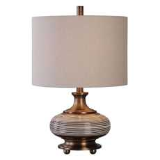 Uttermost Strona Bronze Ceramic Lamp