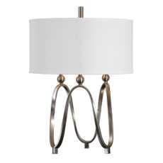 Uttermost Akiro Brushed Nickel Table Lamp