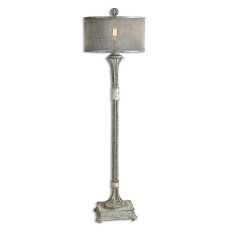 Uttermost Pontoise Aged Ivory Floor Lamp