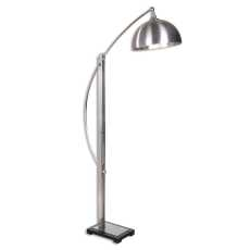 Uttermost Malcolm Brushed Nickel Floor Lamp