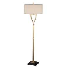 Uttermost Arguello Brushed Brass Floor Lamp