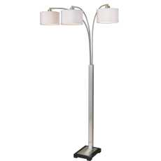 Uttermost Bradenton Nickel 3 Light Floor Lamp