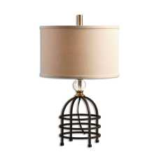 Uttermost Ladonia Rust Black Table Lamp