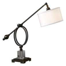 Uttermost Levisa Dark Bronze Desk Lamp
