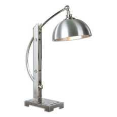 Uttermost Malcolm Brushed Nickel Desk Lamp