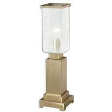 Uttermost Vinchio Crackled Glass Hurricane Lamp