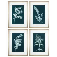 Uttermost Pale Stems Of Spring Floral Art, S/4