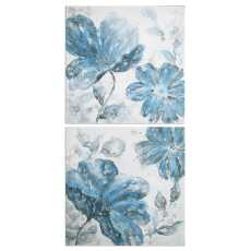 Uttermost Blue Tone Flowers S/2