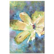 Uttermost Blossom In Yellow Hand Painted Art