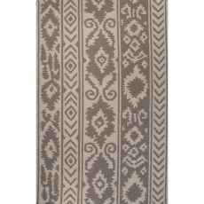 Flatweave Tribal Pattern Gray/Ivory Wool Area Rug (8X10)