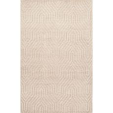 Solids Braided Pattern Ivory/White Wool Area Rug (8X11)