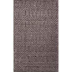 Solids Braided Pattern Gray Wool Area Rug (8X11)