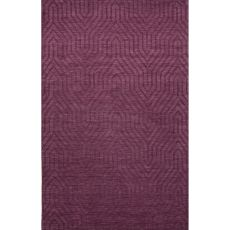 Solids Tribal Pattern Purple Wool Area Rug (8X11)
