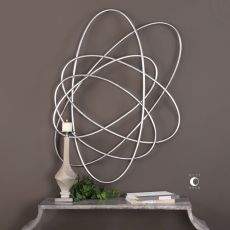 Uttermost Orbital Silver Wall Art