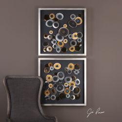 Discs Wall Art Squares S/2