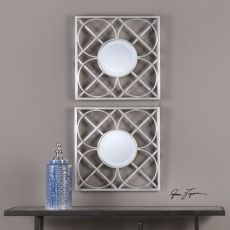 Uttermost Yasmina Silver Square Mirrors Set/2