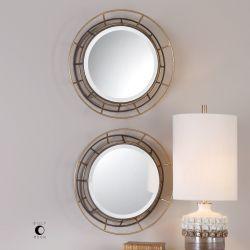 Desario Round Mirrors S/2