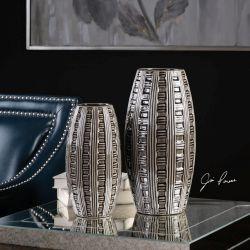 Aura Weave Pattern Vases S/2