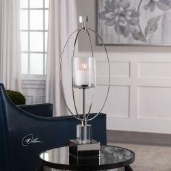 Tamra Polished Silver Candleholders