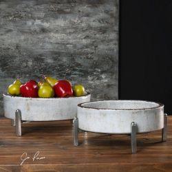 Essie Pale Gray Bowls S/2