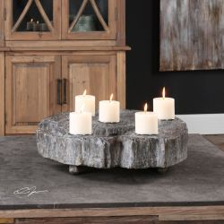 Elwin Tree Trunk Candleholder