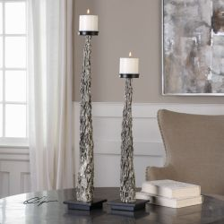 Tegal Candleholders S/2