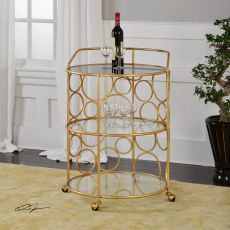 Uttermost Xandra Gold Serving Cart