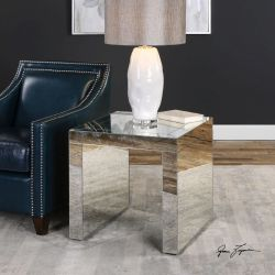 Nora Mirrored Accent Table