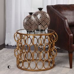 Dipali Gold Accent Table