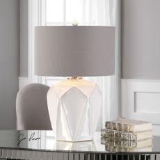 Uttermost Elvilar Gloss White Table Lamp