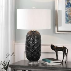 Uttermost Kallithea Deep Blue Table Lamp
