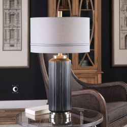 Akila Charcoal Glass Table Lamp