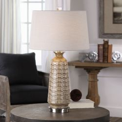 Belser Brown Glaze Table Lamp