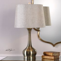 Balle Antiqued Brass Table Lamp