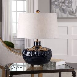 Levane Midnight Blue Table Lamp