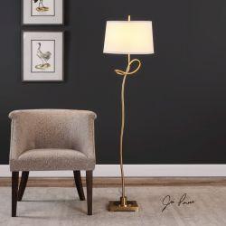 Dalia Twisted Gold Floor Lamp