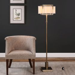 Bettino Antique Brass Floor Lamp