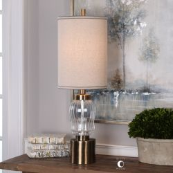 Manuela Ribbed Glass Accent Lamp