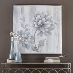 Silver Leaf Floral Art