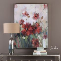Blooming Red Floral Art